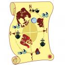 Sticker  Carte aux Trésors