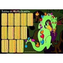 Set de bureau  Dino le dragon - Tables de Multiplications