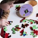 """Jeu de puzzle en bois """" Dino, le dragon """""""