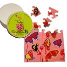 """Jeu de puzzle en bois """" Papillons """""""