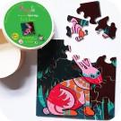 """Jeu de puzzle en bois """" Léo, le lapin """""""