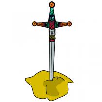 Sticker  Epée de Chevalier