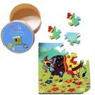"""Jeu de puzzle en bois """" Valentine, la vache """""""