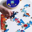 """Jeu de puzzle en bois """" Poissons pirates """""""